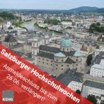 Verlängerung Anmeldeschluss Salzburg