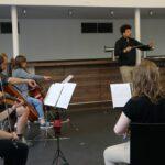 Letzte Orchesterprobe mit besonderer Widmung